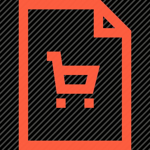 cart, file, market, sale, store, supermarket, truck icon