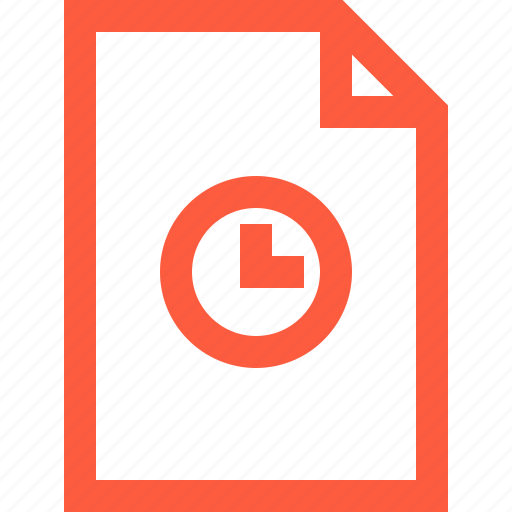 clock, deadline, file, period, timer, timing icon