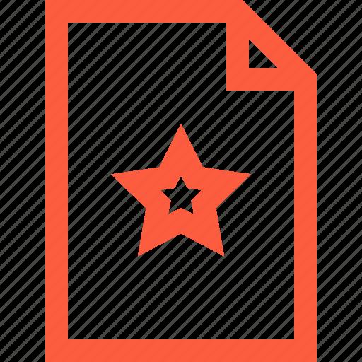 doc, document, favorite, file, preferred, star icon