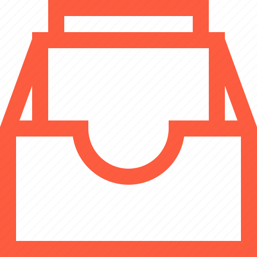 box, catalog, document, files, inbox, office, work icon