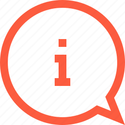 bubble, chat, faq, info, information, message, speech icon