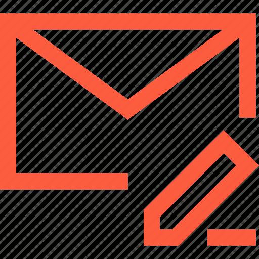 change, correct, edit, envelope, letter, mail, message icon