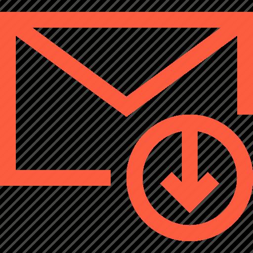 download, envelope, get, letter, mail, message icon