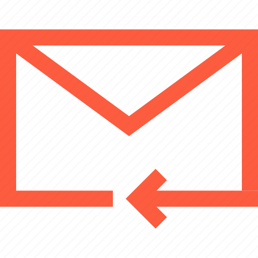 back, envelope, letter, mail, message, previous, receive, reply icon