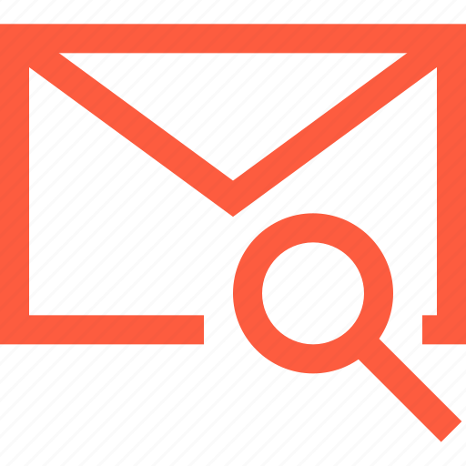 envelope, find, letter, mail, message, scan, search icon
