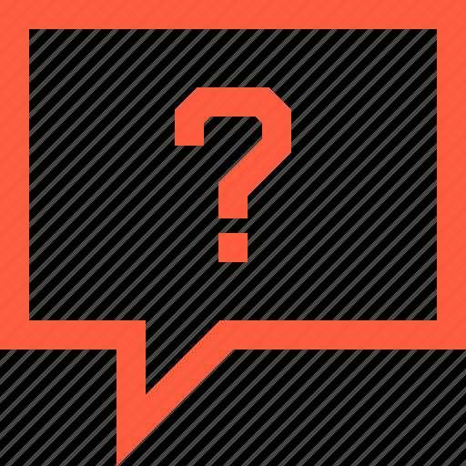 ask, bubble, chat, faq, message, question, speech icon