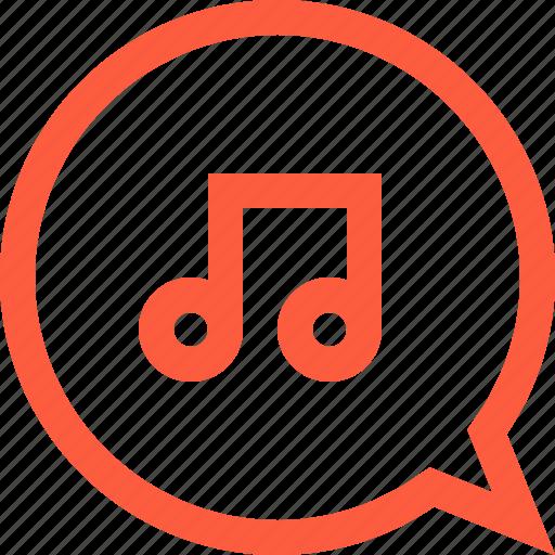 audio, melody, message, multimedia, music, sound, tune icon