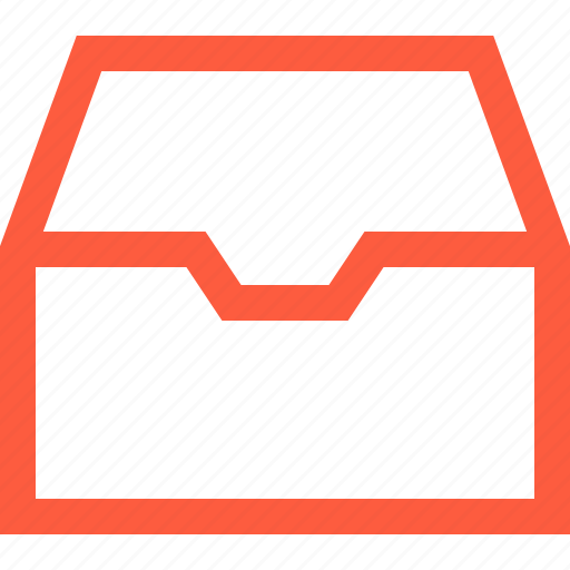 box, document, email, empty, inbox, letters, mail, messages icon