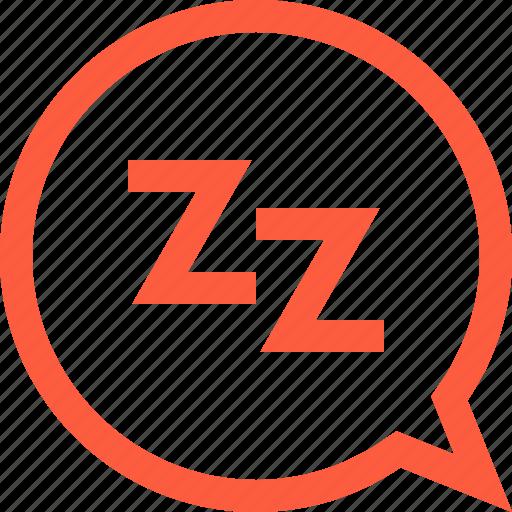 dialog, message, nap, sleep, sleeping, snooze, wait icon