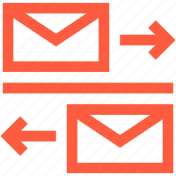 communication, conversation, discussion, email, incoming, mail, messaging, outgoing icon