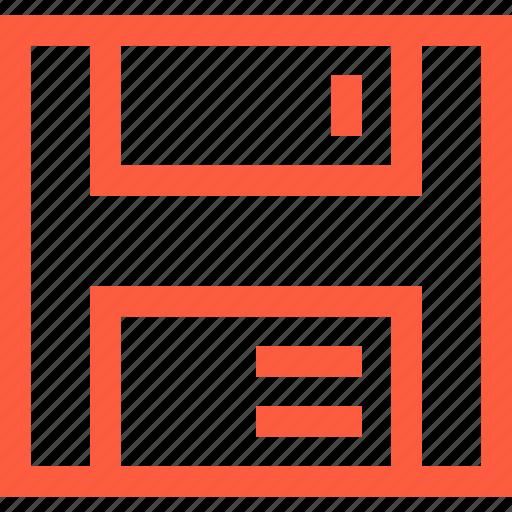 archive, diskette, drive, keep, preserve, save, storage icon
