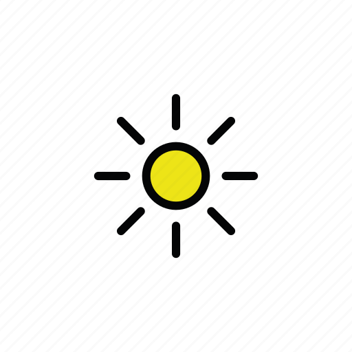 meteo, sun, sunny icon