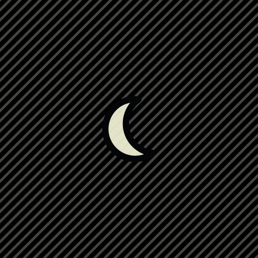 meteo, moon, night icon