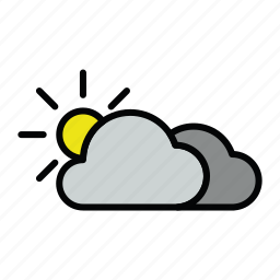 cloud, cloudy, meteo, sun icon