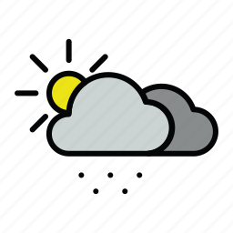 meteo, snow, snowy, sun icon