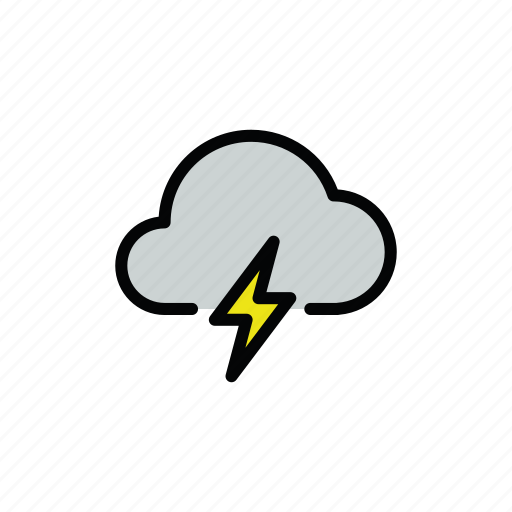 meteo, thunder, thunderstorm icon