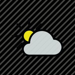 cloud, cloudy, meteo, sun icon