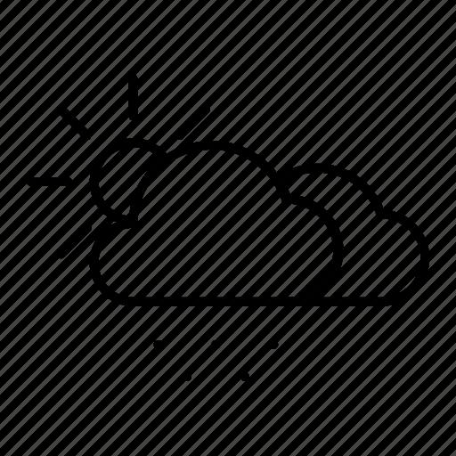 cloud, snow, snowy, sun, weather icon