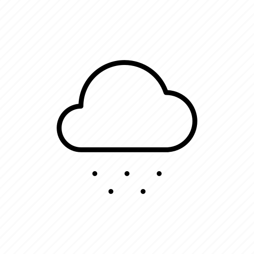 cloudy, snow, snowy, weather icon