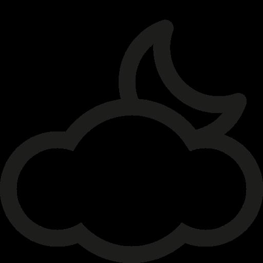 cloud, moon icon