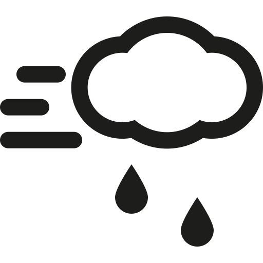 cloud, rain, wind icon