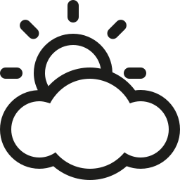 cloud, sun icon