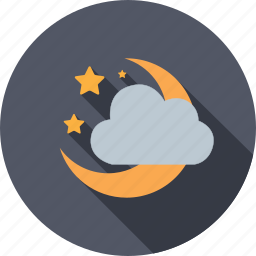 astronomy, climate, cloud, moon, moonlight, temperature, weather icon