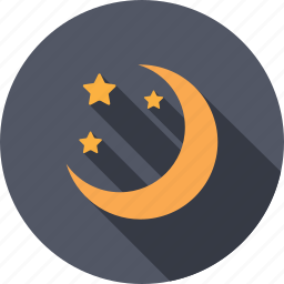 astronomy, climate, moon, moonlight, sky, temperature, weather icon