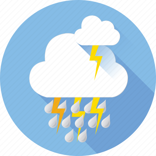 cloud, hymidity, lightning, rain, strom, temperature, weather icon