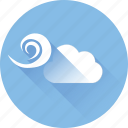 cloud, rain, snow, strom, temperature, weather, wind icon