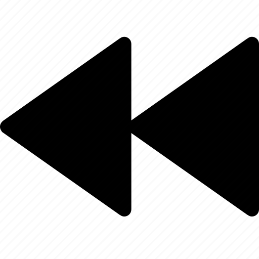 arrow, back, backward, backwards, media, rearward, reverse, rewind, rewinding, sign icon