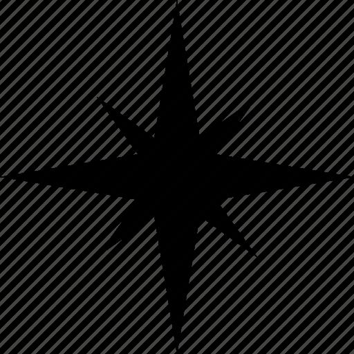direction, navigate, navigator, star, travel, wind icon
