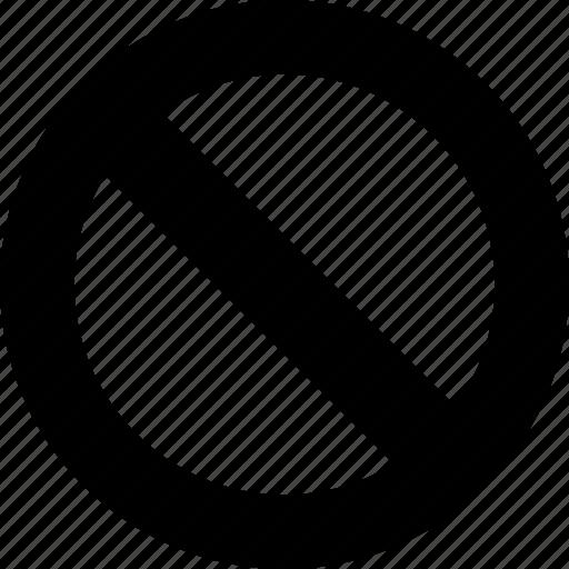 ban, denial, embargo, failure, no entry, permission, taboo icon