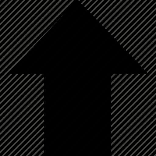 export, go, move, send, up arrow, update, upload icon