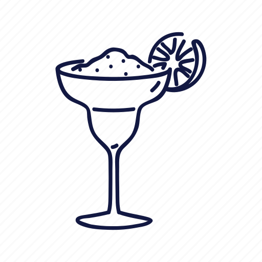 drink, margherita, mexican, outline icon
