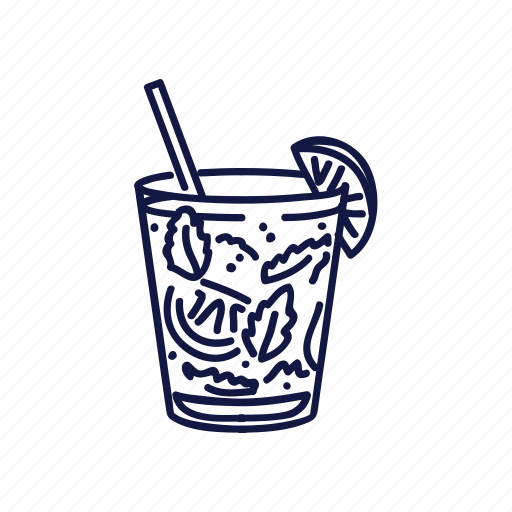 drink, food, mexican, mojito, outline icon