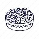 food, mexican, outline, salad icon
