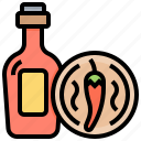 bottle, chilli, food, mexico, sauce icon