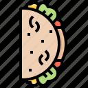 food, fastfood, mexico, taco icon