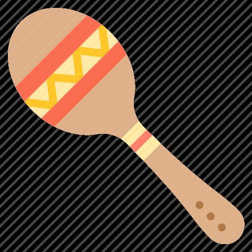 instrument, maraca, mexico, music icon