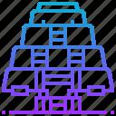 architecture, building, landmark, mexico, pyramid, sun icon