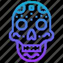 death, cranium, skull, mexico icon