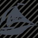 boat trips, miami, recreation, yacht icon