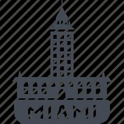 building, hotel, miami, service icon