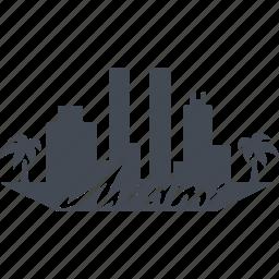 island, miami, palm, recreation icon