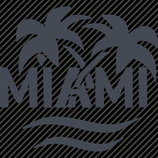 miami, recreation, resort area, sea icon