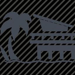 island, miami, resort, resort area icon
