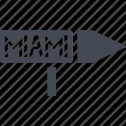 country, island, miami, nation icon