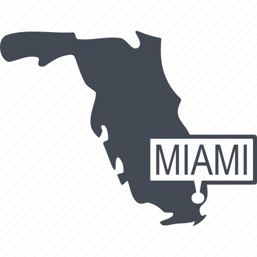 country, island, miami, palm icon