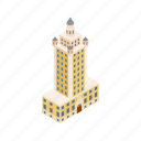 building, cityscape, freedom, isometric, miami, skyline, tower icon